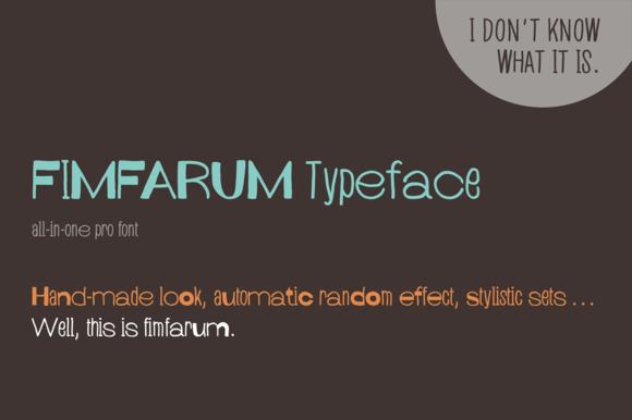 Fimfarum Pro Font