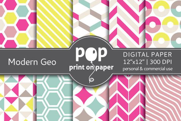 Modern Geometric 10 Digital Papers