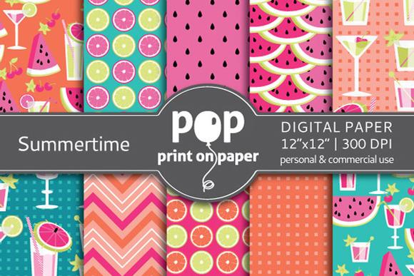 Summertime 10 Digital Papers
