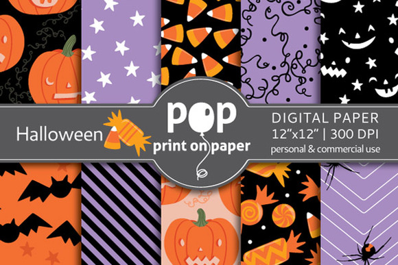 Halloween 10 Digital Papers