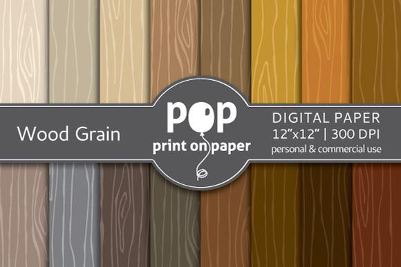 Wood Grain 16 Digital Papers