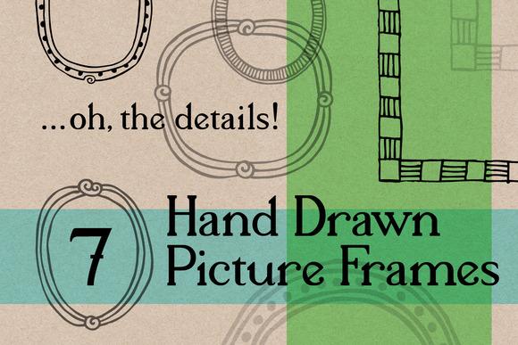 7 Hand Drawn Vector Bitmap Frames