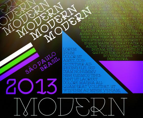 Modern Font By VTKS
