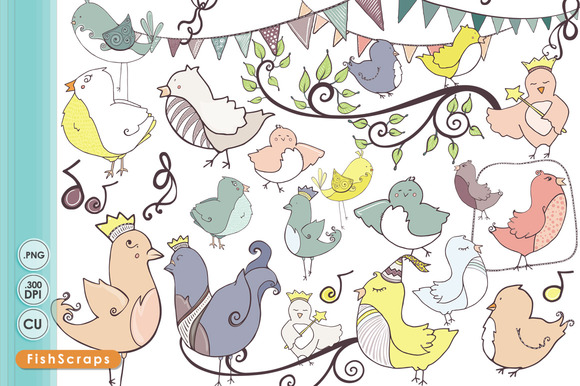 Whimsical Bird ClipArt
