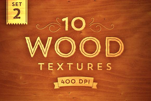 10 Wood Textures Set 2