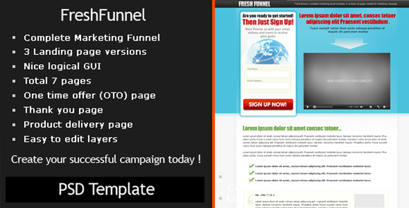 Freshfunnel PSD Template