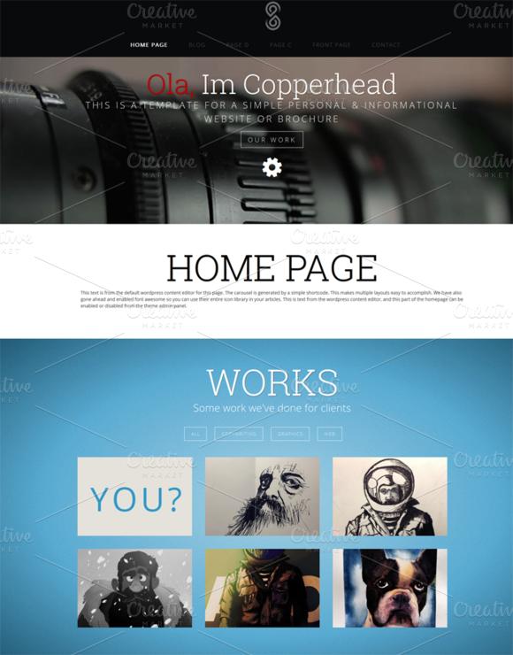 Copperhead Wordpress Theme
