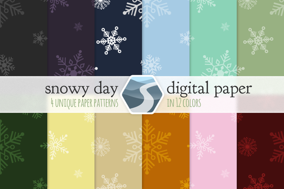 Snowy Day Digital Paper