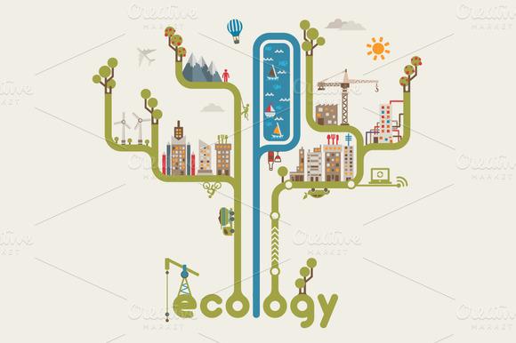 Sustainable City Illustration
