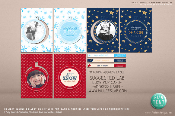 Holiday Bundle 3 5x7 Luxe Pop Card