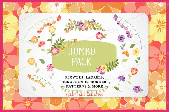 Bright Flower Jumbo Pack