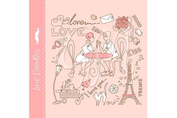 Valentines Doodles Clip Art Love