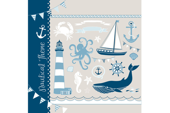 Nautical Clip Art Sea Anchor Boat