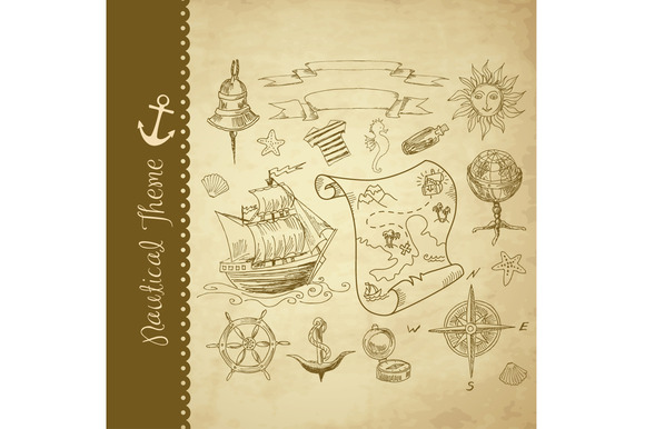 Nautical Clip Art Treasure Map