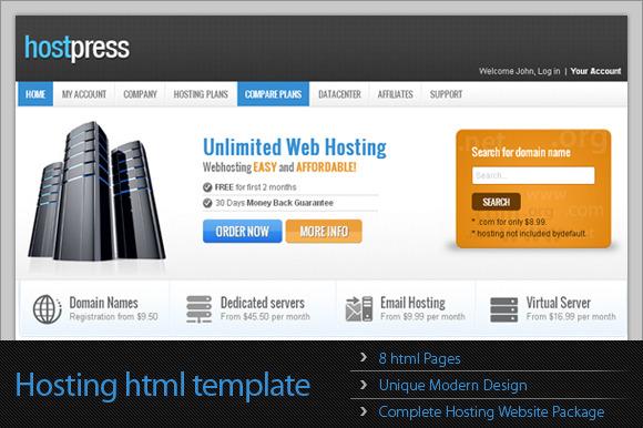 HostPress HTML Template
