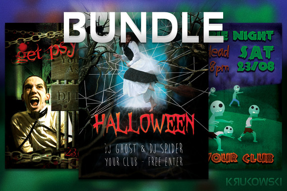 Halloween Flyers Posters BUNDLE