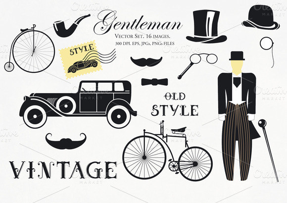 Gentleman Vector Set