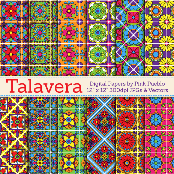 Talavera Digital Papers Backgrounds
