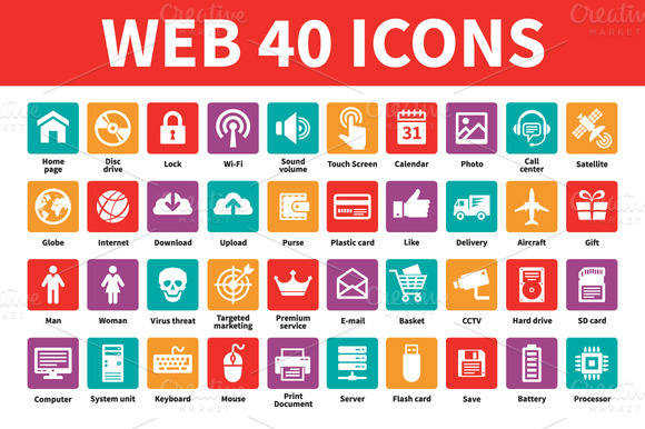 Web 40 Vector Icons