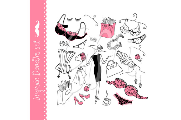 Lingerie Doodles Ladies Underwear