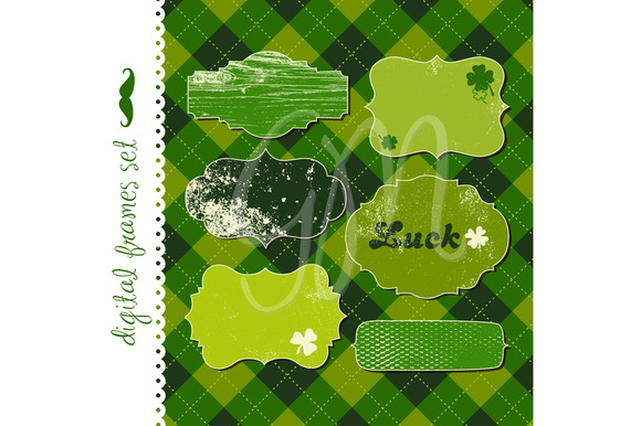 12 St Patrick S Day Frames Clipart
