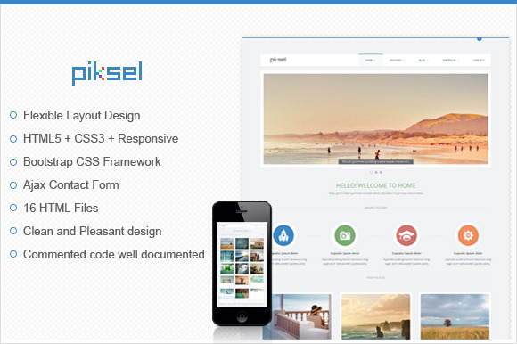 Piksel Multipurpose HTML Template