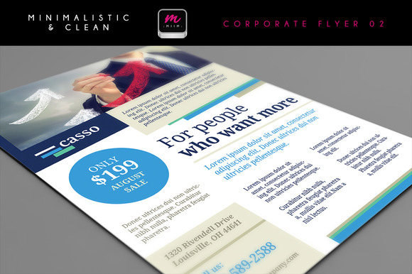 Clean Corporate Flyer Template 02