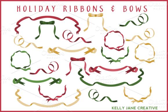 Christmas Ribbons Bows Vector