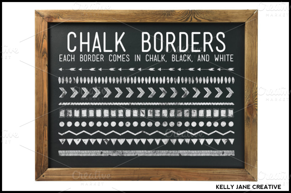 Chalkboard Borders Background