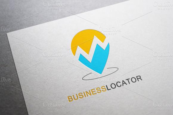Business Locator Logo Template