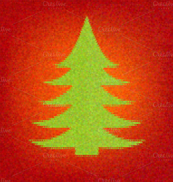 Polygon Style Fir Tree