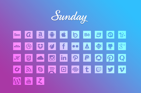 Sunday Glyphs-Social Icons