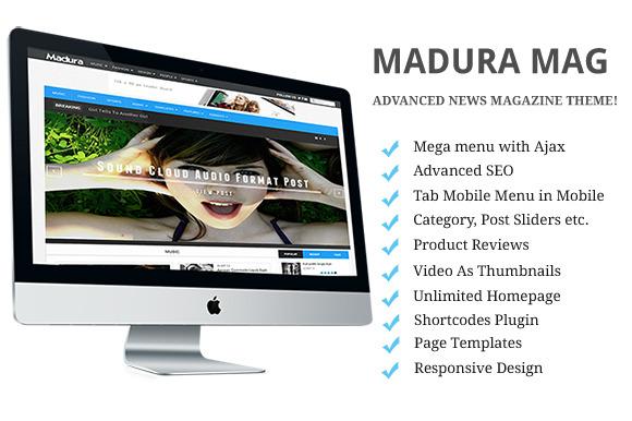 MaduraMag-Fastest NewsPaper WP Theme