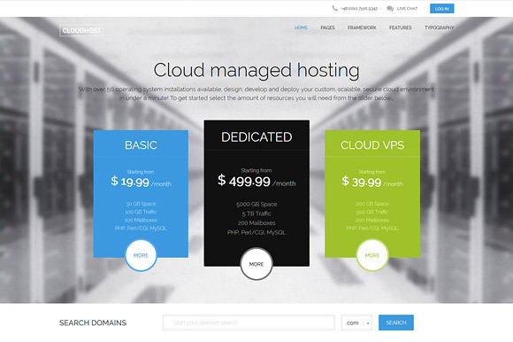 CloudHost Hosting WordPress Theme