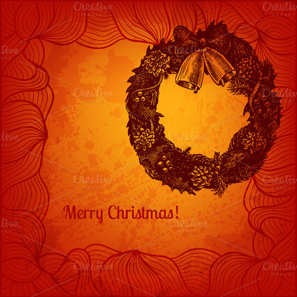 Artistic Vector Christmas Card