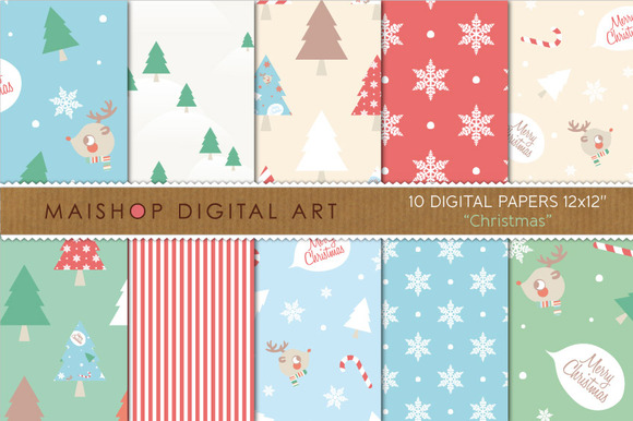 Digital Papers-Christmas