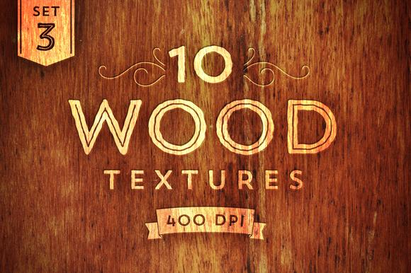 10 Wood Textures Set 3