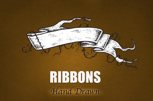 RIBBONS Hand Drawn