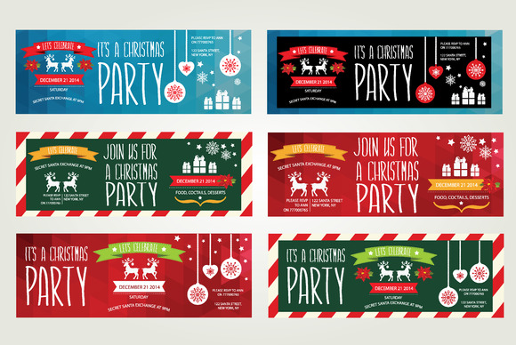 6 Christmas Invitations