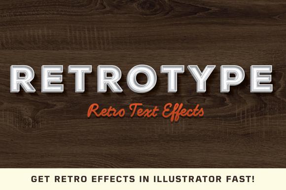RetroType Illustrator Kit
