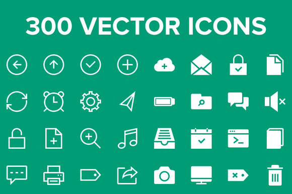 Thin Strokes Vector Icon Pack