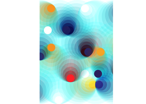 Colorful Spheres Background Pattern