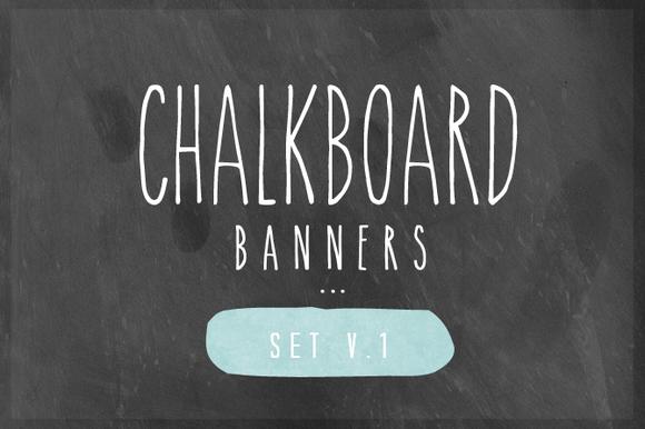 Chalkboard Banner Set V.1