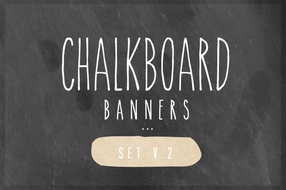 Chalkboard Banner Set V.2