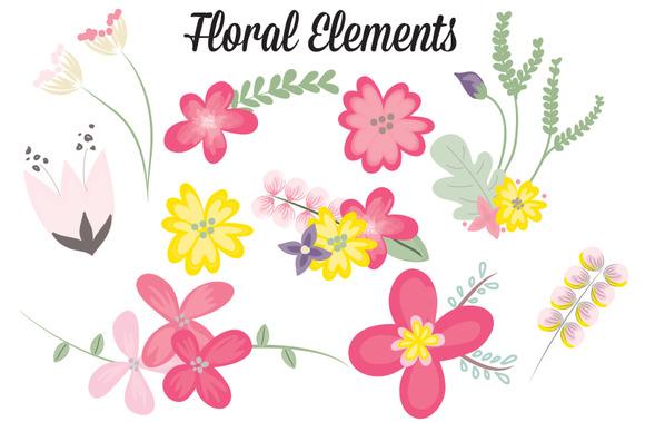 10 Vibrant Floral Elements