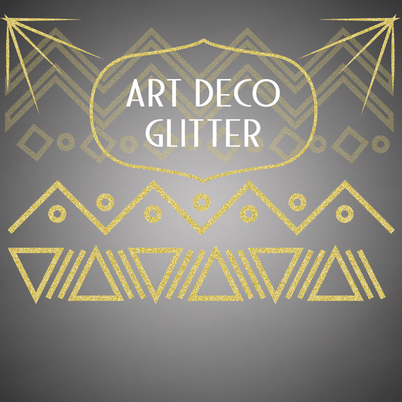 Art Deco Glitter Patterns Graphics