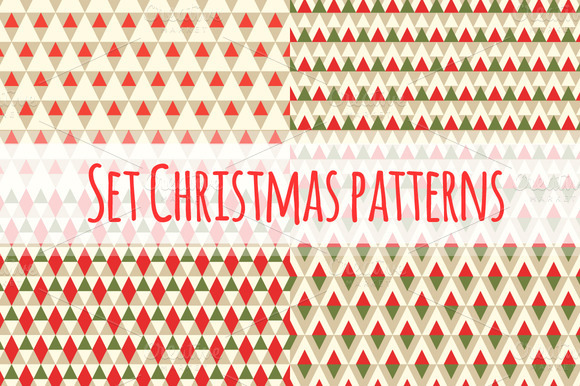 Set Christmas Geometric Patterns