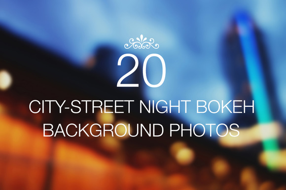 20 Night Bokeh Backgrounds