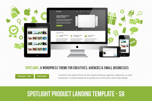Spotlight Product Landing Page