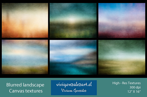 Blurred Landscape Canvas Textures